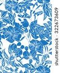 seamless flower background  ... | Shutterstock .eps vector #322673609