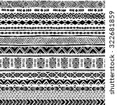 black and white navajo seamless ... | Shutterstock .eps vector #322681859