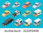 set of the isometric cars | Shutterstock .eps vector #322693448