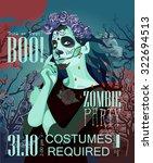 halloween party vector... | Shutterstock .eps vector #322694513