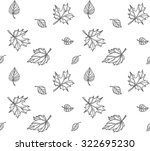 doodle leaves isolated on white ... | Shutterstock .eps vector #322695230