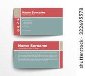 modern simple business card set ... | Shutterstock .eps vector #322695578