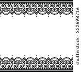 mehndi  indian henna tattoo... | Shutterstock .eps vector #322698716