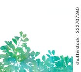 green watercolor texture leaves ...   Shutterstock . vector #322707260