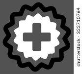 medical cross stamp vector icon.... | Shutterstock .eps vector #322710764