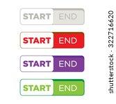 website button set flat design | Shutterstock .eps vector #322716620