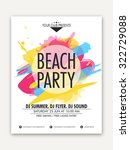 elegant one page flyer  banner... | Shutterstock .eps vector #322729088