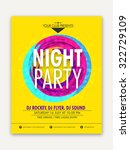 night party celebration  one... | Shutterstock .eps vector #322729109