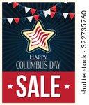 columbus day sale vector poster ...   Shutterstock .eps vector #322735760