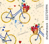 hand drawn watercolor pattern... | Shutterstock . vector #322735994