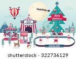 christmas winter wonderland... | Shutterstock .eps vector #322736129