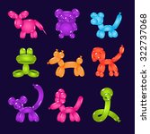 collection of colourful animal... | Shutterstock .eps vector #322737068