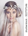 beautiful bride with fashion... | Shutterstock . vector #322737146