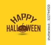 happy halloween card with... | Shutterstock .eps vector #322744520