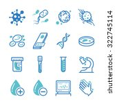 laboratory icons set | Shutterstock .eps vector #322745114