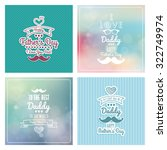 set of colored backgrounds with ... | Shutterstock .eps vector #322749974
