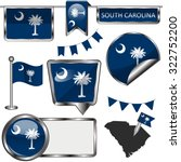 vector glossy icons of flag of... | Shutterstock .eps vector #322752200