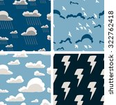 set of sky seamless pattern.... | Shutterstock .eps vector #322762418