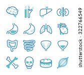 human organ icon set. included... | Shutterstock .eps vector #322766549