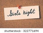 girls night   Shutterstock . vector #322771694