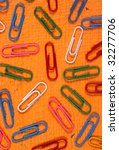 color paper clips with handmade ... | Shutterstock . vector #32277706