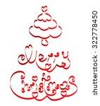 christmas card   christmas tree ... | Shutterstock .eps vector #322778450