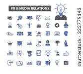 pr  public relations and media  ... | Shutterstock .eps vector #322779143