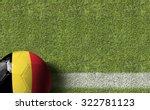 Belgium Ball In A Soccer Field