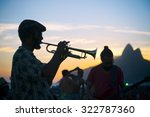 Silhouettes In Defocus Of A...