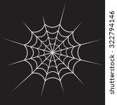 spiderweb white on black vector | Shutterstock .eps vector #322794146