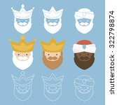 the three kings of orient. 3... | Shutterstock .eps vector #322798874