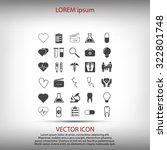 medical icons set | Shutterstock .eps vector #322801748