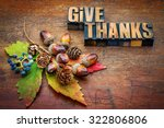 give thanks   thanksgiving... | Shutterstock . vector #322806806