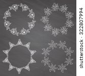 hand drawn vector set of... | Shutterstock .eps vector #322807994