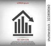 graph vector icon   Shutterstock .eps vector #322808060