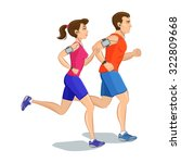 illustration of a runners  ... | Shutterstock .eps vector #322809668