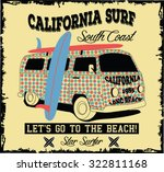 california surf bus | Shutterstock .eps vector #322811168