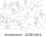 hands icons in line simple | Shutterstock .eps vector #322811816