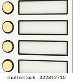 doorbell nameplate | Shutterstock . vector #322812710