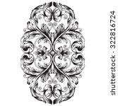 calligraphic design elements ... | Shutterstock .eps vector #322816724