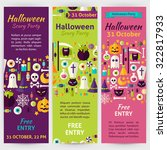 halloween party holiday...   Shutterstock .eps vector #322817933