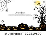 halloween background idea... | Shutterstock . vector #322819670