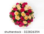 Top View Of Luxury Bouquet Of...
