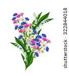 daisies summer white flower... | Shutterstock . vector #322844018