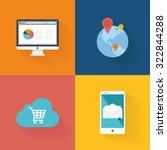 set of social media icons on... | Shutterstock .eps vector #322844288