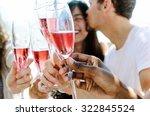 beautiful mix race couple... | Shutterstock . vector #322845524