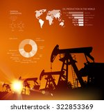 oil derrick infographic with... | Shutterstock .eps vector #322853369