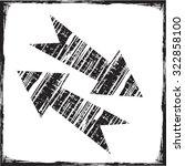 grunge arrows | Shutterstock .eps vector #322858100