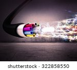 Image Of An Optical Fiber With...