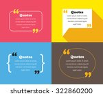 quotes design template | Shutterstock .eps vector #322860200